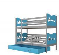 Detská drevená poschodová posteľ MAX COLOR 180x80