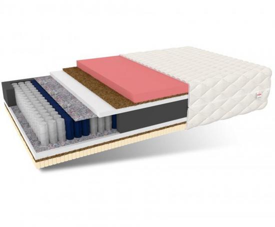 Luxusný taštičkový matrac SENSITIVE 3D s Latexom Kokosom a Pamäťovou penou