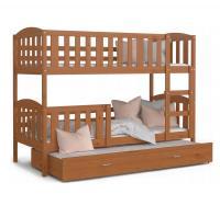 Detská poschodová posteľ KUBU 3 COLOR 190x80 drevený