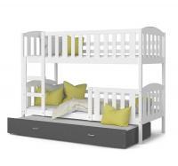 Detská poschodová posteľ KUBU 3 COLOR 190x80 farebný