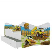 Rozprávková detská posteľ KEVIN 140x70 s farebnou zásuvkou