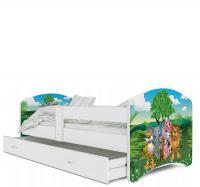Rozprávková posteľ LUCKY 160x80 farebná
