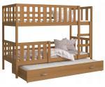 Detská poschodová posteľ NEMO 3 190x80 cm JELŠA