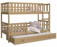 Detská poschodová posteľ NEMO 3 200x90 cm BOROVICA
