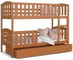 Detská poschodová posteľ KUBU 190x80cm JELŠA