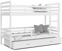 Detská posteľ JACEK 80x190 cm BIELA-BIELA