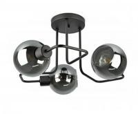 Stropní světlo Plafon 3 ramenné ve tvaru koule šedá