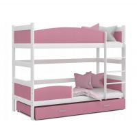 Detská poschodová posteľ so zábranou TWIST 190x90 color